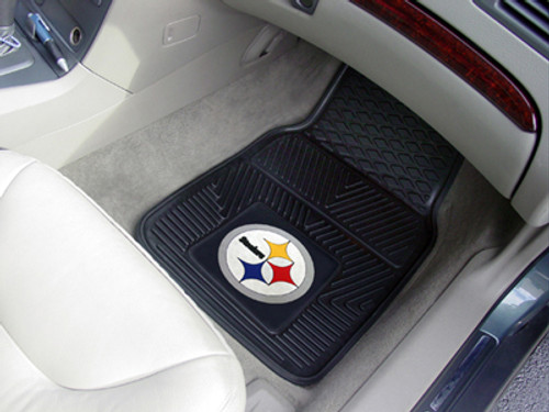 "NFL - Pittsburgh Steelers 2-pc Vinyl Car Mats 17""x27"""