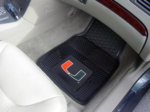 """Miami 2-pc Vinyl Car Mats 17""""x27"""""""