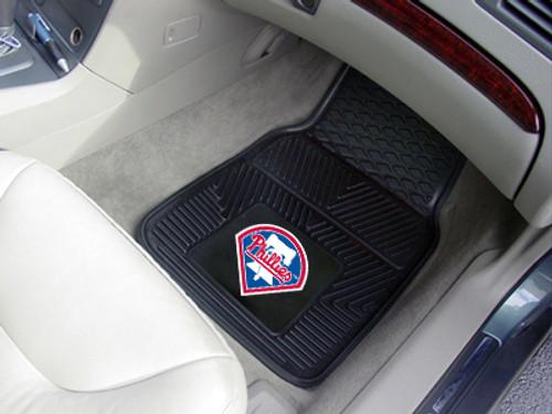 "MLB - Philadelphia Phillies 2-pc Vinyl Car Mats 17""x27"""