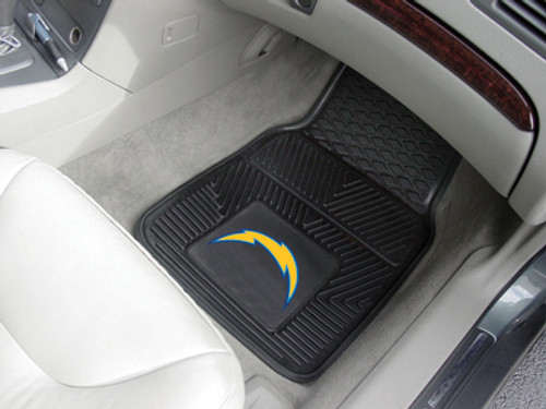 "NFL - San Diego Chargers 2-pc Vinyl Car Mats 17""x27"""