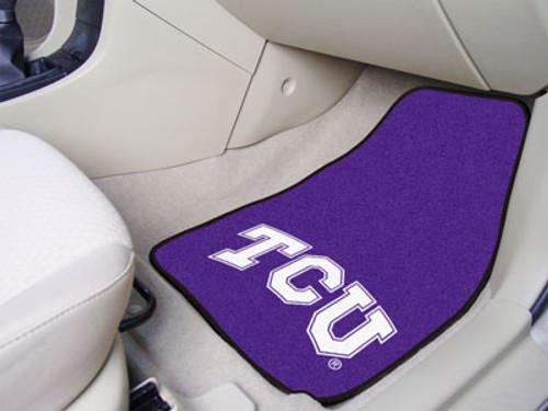 "TCU 2-pc Carpeted Car Mats 17""x27"""