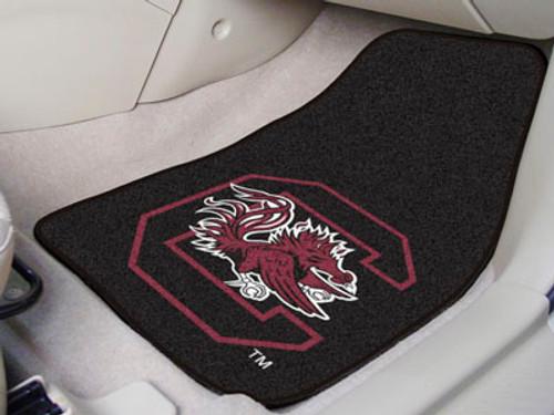 """South Carolina 2-pc Carpeted Car Mats 17""""x27"""""""