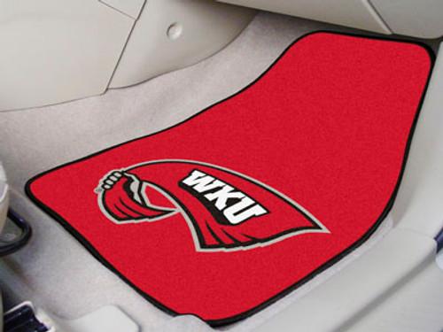 """Western Kentucky 2-pc Carpeted Car Mats 17""""x27"""""""