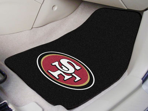 "NFL - San Francisco 49ers 2-pc Carpeted Car Mats 17""x27"""