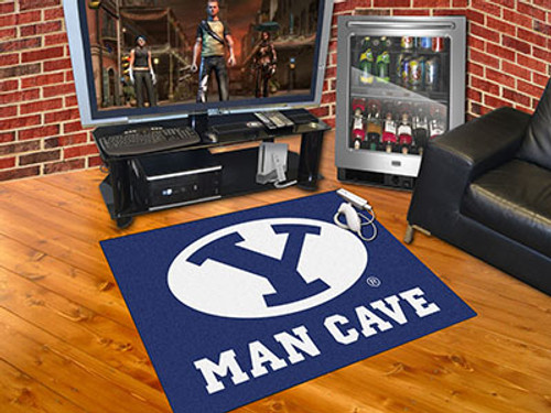 """Brigham Young Man Cave All-Star Mat 33.75""""x42.5"""""""