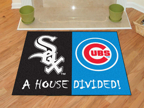 "MLB - White Sox - Cubs House Divided Rug 33.75""x42.5"""