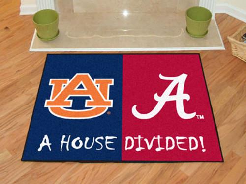 """Alabama - Auburn House Divided Rug 33.75""""x42.5"""""""