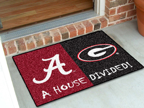 "Alabama - Georgia House Divided Rug 33.75""x42.5"""