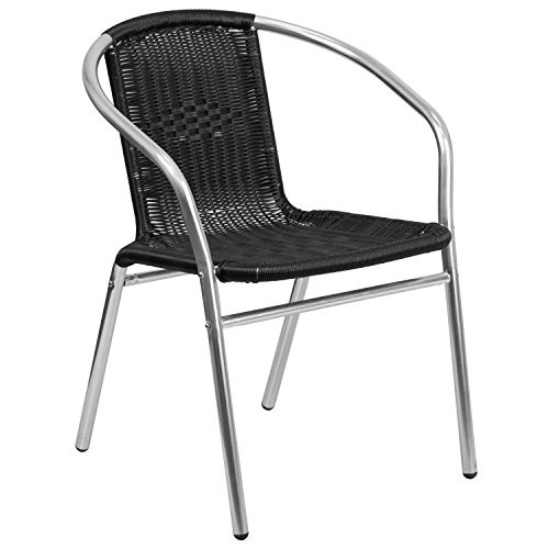 Aluminum and Rattan Chair TLH-020-BK-GG