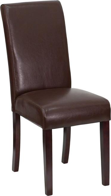Brown parsons chair BT-350-BRN-LEA-008-GG