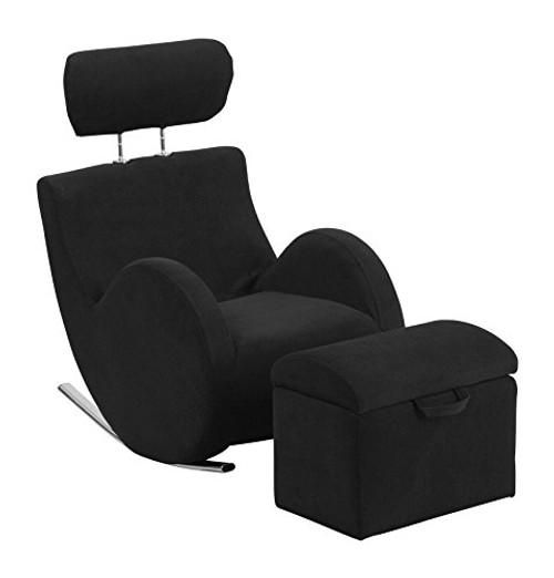 Black Fabric Rocking Chair LD-2025-BK-GG
