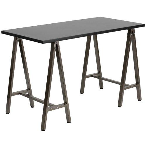 Black computer desk NAN-JN-2834W-BK-GG