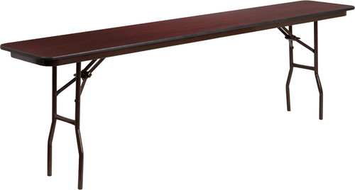 18 x 96 Walnut Folding Table YT-1896-MEL-WAL-GG