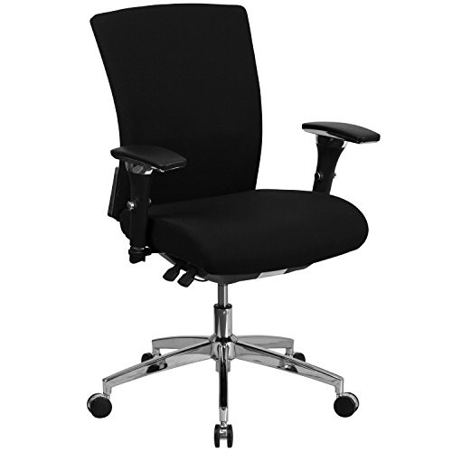 24/7 Black Fabric Office Chair GO-WY-85-6-GG