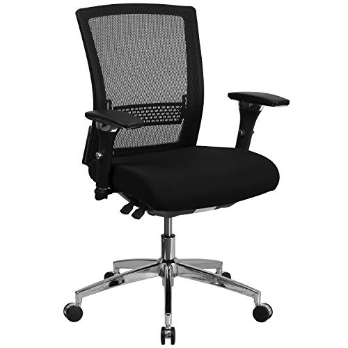24/7 Black Mesh Office Chair GO-WY-85-8-GG