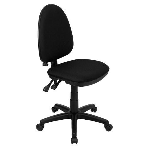 Black Fabric office chair WL-A654MG-BK-GG