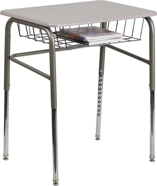 Student Desk with Grey Top XU-DESK-GG
