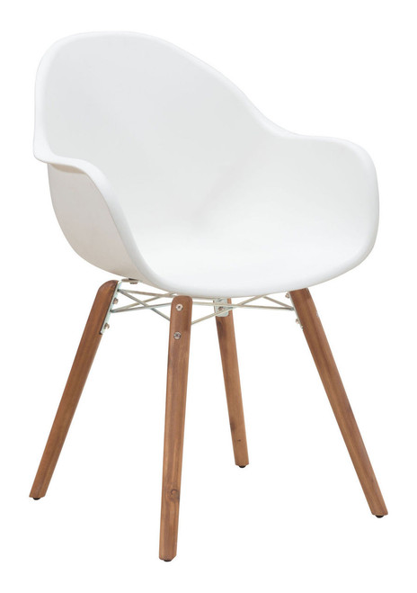 Zuo Modern 703752 Tidal Dining Chair White Set of 4