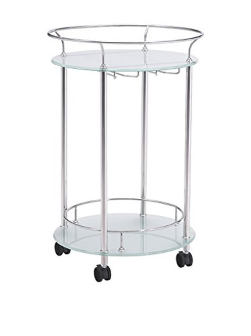 Zuo Modern 100365 Plato Serving Cart Stainless Steel