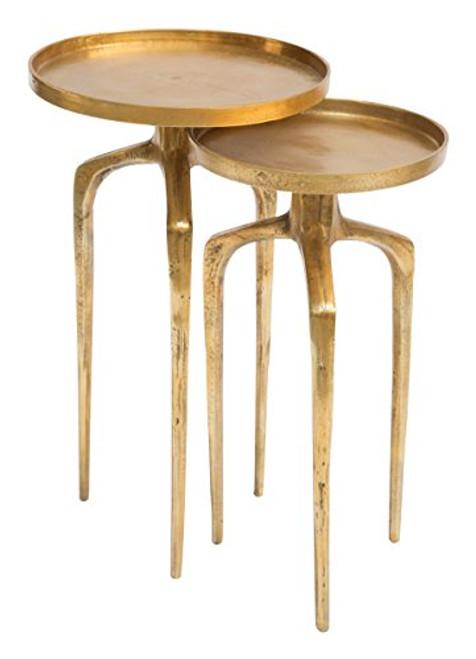 Zuo Modern 405002 Como Accent Table Set Antique Gold