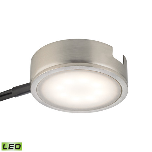 Alico MLE301-5-16M Tuxedo 1 Light LED Undercabinet Light In Satin Nickel With Power Cord And Plug