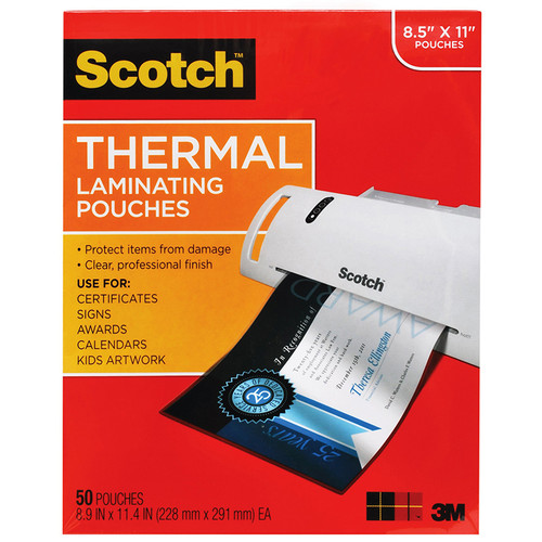 3m Company MMMTP385450 Thermal Laminating Pouches Letter Size 50 / Pk