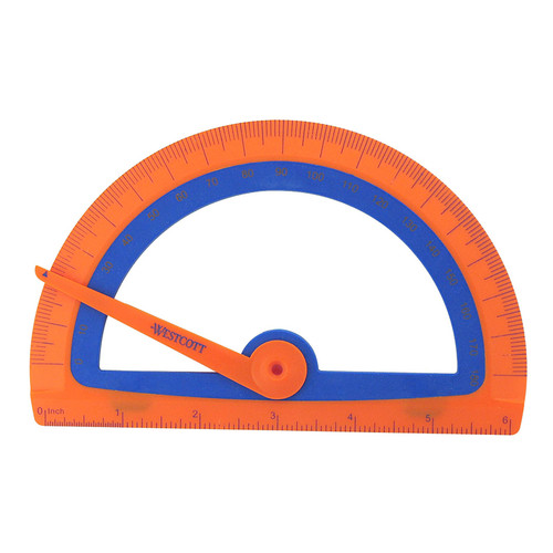Acme United Corporation ACM14371 Microban Kids Soft Touch Protractor