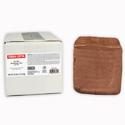 American Art Clay AMA46319S Amaco Air Dry Clay Terra Cotta 25lb