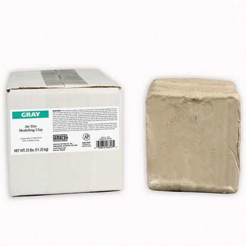 American Art Clay AMA46317P Amaco Air Dry Clay Gray 25 Lb