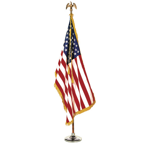 Annin & Company ANN031400 Complete Mounted Us Flag Set 3x5 8 Ft Pole