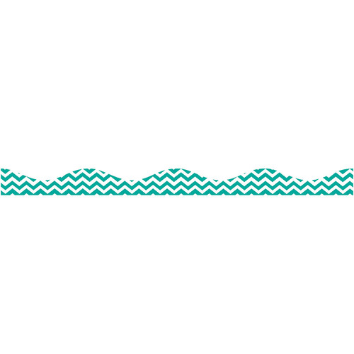 Ashley Productions ASH10173 Magnetic Border Turquoise Chevron