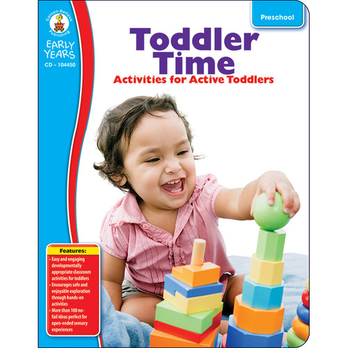 Carson Dellosa CD-104450 Early Years Toddler Time Classroom Activities For Active Toddlers
