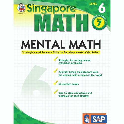 Carson Dellosa FS-704055 Mental Math Level 6 Gr 7