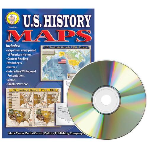 Carson Dellosa CD-405001 Us History Maps Clip Art Cd