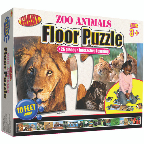 Carson Dellosa FS-076965827X Zoo Animals Puzzle Ages 3-6