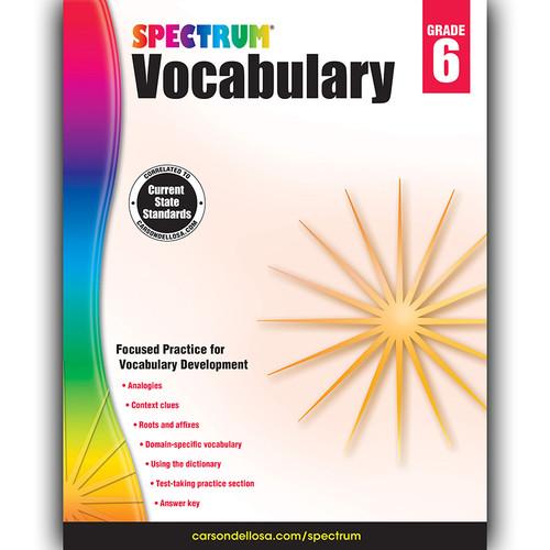Carson Dellosa CD-704613 Spectrum Vocabulary Gr 6