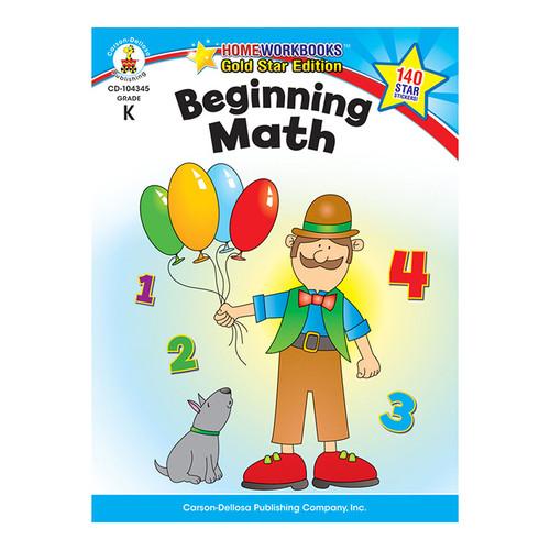 Carson Dellosa CD-104345 Beginning Math Home Workbook Gr K