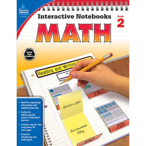 Carson Dellosa CD-104647 Interactive Notebooks Math Gr 2