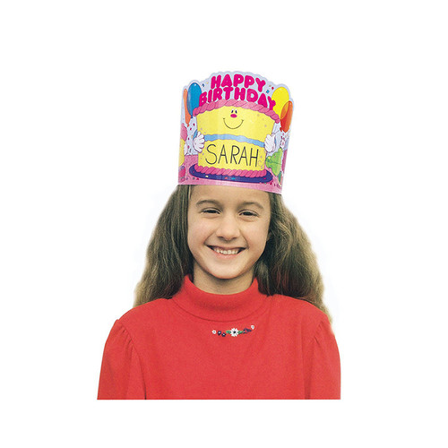 Carson Dellosa CD-0232 Birthday Crowns 2-tier Cake 30 / Pk