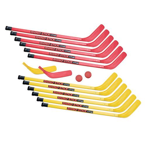 Champion Sports CHSHS36SET Hockey Set Elementary Abs Plastic 12 Sticks