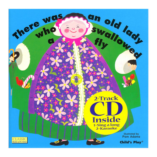 Childs Play Books CPY9781904550624 Old Lady Who Swallowed A Fly & Cd