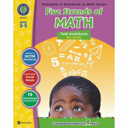 Classroom Complete Press CCP3111 Five Strands Of Math Big Book Gr 3-5 Principles & Standards Of Math