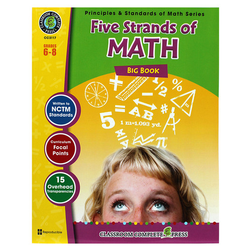 Classroom Complete Press CCP3117 Five Strands Of Math Big Book Gr 6-8 Principles & Standards Of Math