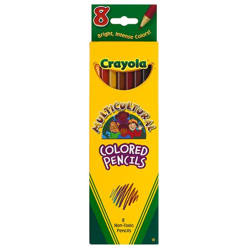 Crayola Llc BIN684208 Crayola Multicultural 8 Ct Colored Pencils