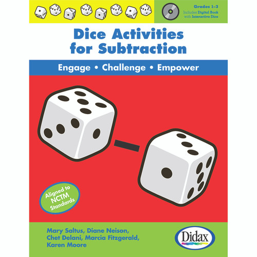 Didax DD-211222 Dice Activities For Subtraction Resource Book