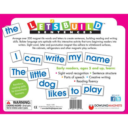 Dowling Magnets DO-733017 Lets Build Sentences