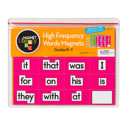 Dowling Magnets DO-733000 Magnet Literacy High Frequency Word Magnets Gr K-1
