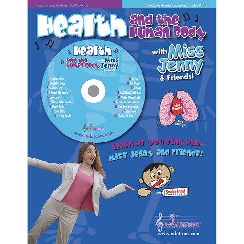 Edutunes ET-24 Health And The Human Body With Miss Jenny & Friends Cd Book Set