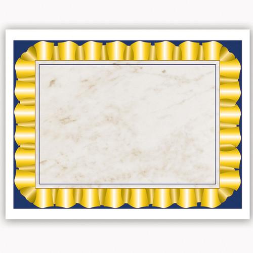 Flipside H-VA669 Gold Ribbon Certificate Border Computer Paper