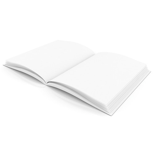 Flipside H-BK100 Plain White Blank Book 8.5w X 11h Hardcover 28 Pages 14 Sheets